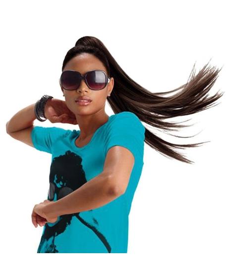 Postiche Slick - 100% Cheveux Naturels - EZ Pony - Sleek