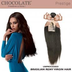 Tissage Brésilien 100% cheveux naturels vierges - Chocolate Prestige Paris