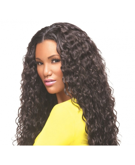 Tissage Virgin Gold Brazilian Curl Cheveux Frisés - Sleek hair