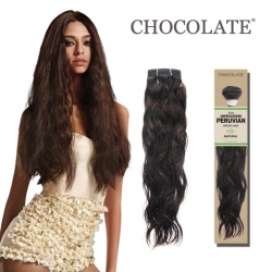 "Tissage Brésilien Natural Wave 12"" Chocolate Paris"