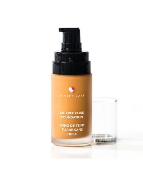 Fond de Teint Fluide Sans Huile - FF06 Light Beige - Sunset Cosmetics