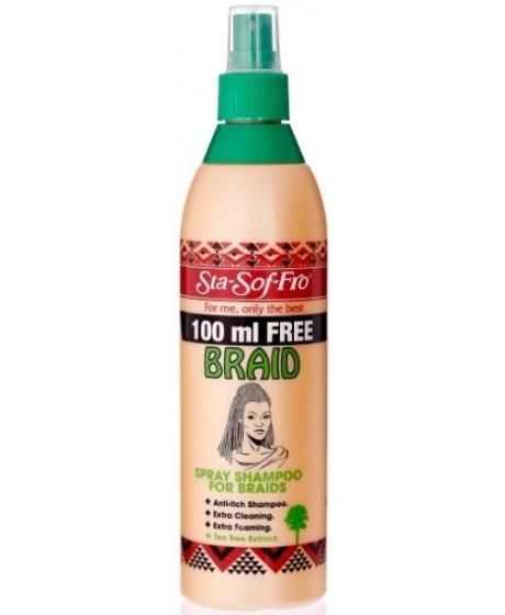Spray Shampooing pour Braids, Tresses, Crochet