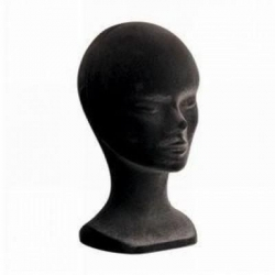 Tête de Mannequin Femme Couleur Noire