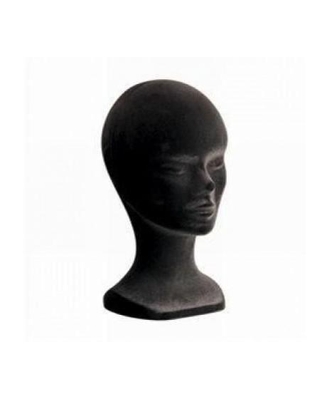 Tete de Mannequin Femme Couleur Noire