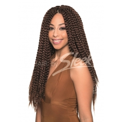 Tissage Crochet Mambo Box Braid Couleurs Tie and Dye
