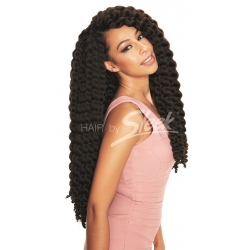 "Tissage Mambo Satin Twist 22"" Tie and Dye de Sleek"