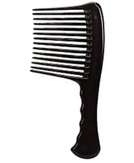 Peigne râteau à dents larges en plastique afro