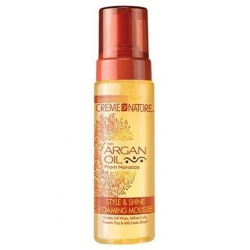 Creme of Nature Style & Shine Foaming Mousse - Mousse coiffante huile d'Argan