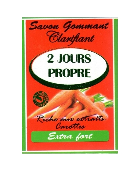 2 Jours Propre Savon Gommant Clarifiant Carotte