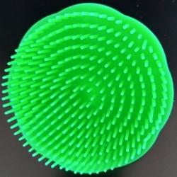 Brosse plastique à cheveux ronde démêlante couleur verte