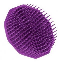 Brosse plastique ronde à cheveux démêlante couleur violet