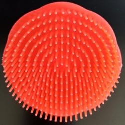 Brosse plastique ronde à cheveux démêlante couleur rouge