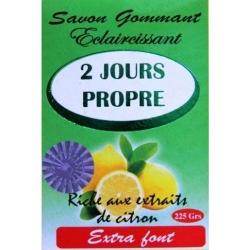 2 Jours Propre Savon Gommant Eclaircissant Citron