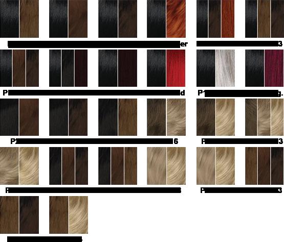 Charte couleur Sleek P