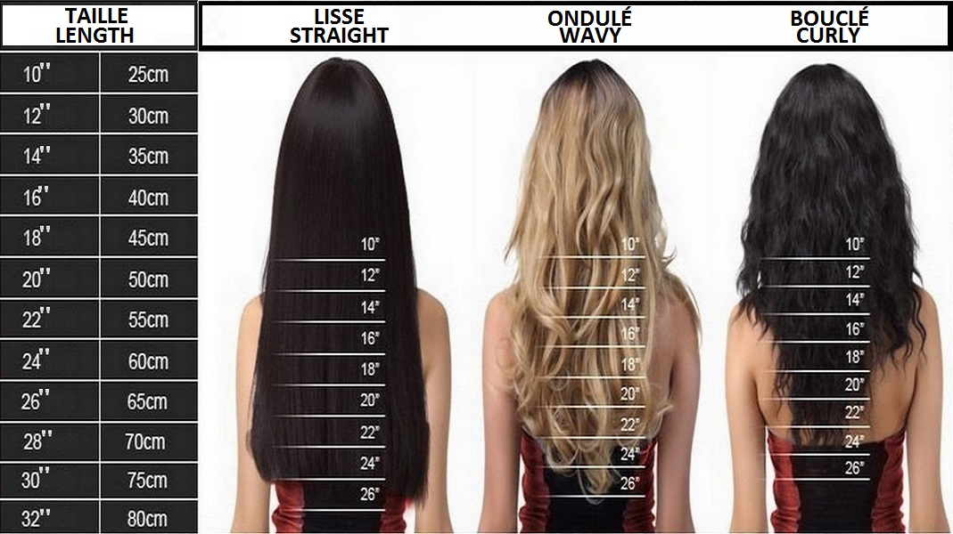 Guide de taille Sleek hair