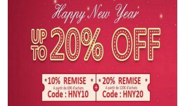Happy New Year Remise Jusqu'à 20%